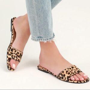 NWOT Steve Madden Bev Cow Hair Leopard Sandal 9.5